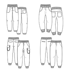 Pants Outline vector image vector image