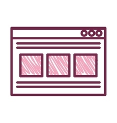 Template webpage with arrow upload vector