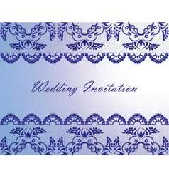 Wedding Lace Invitation Card vector image vector image
