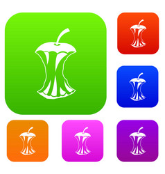 Apple core set collection vector
