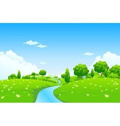 green city landscape vector image vector image