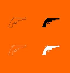 gun revolver icon vector image