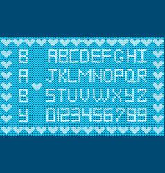 knitted abc alphabet knitting pattern boy light vector image