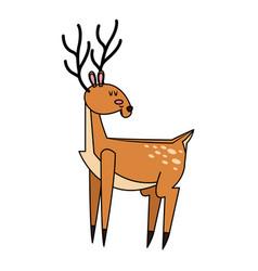 single deer icon image vector image vector image