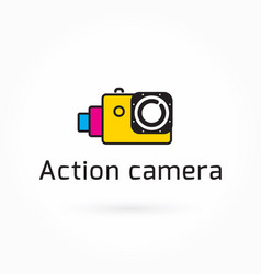 action camera icon colorful logo template vector image
