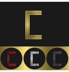 C Letter logo vector image