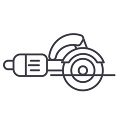 construction toolsjigsaw cutter line icon vector image
