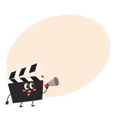 funny cinema production clapper board clapboard vector image vector image