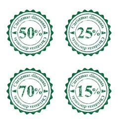 Grunge stamps for cristmas sales vector image vector image