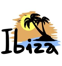 Ibiza beach symbol vector image