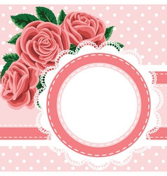 lace and roses vector image