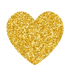 Valentines day glitter gold heart vector image vector image