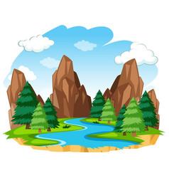 A river natural landscape vector