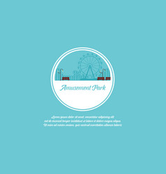 Art amusement park background vector