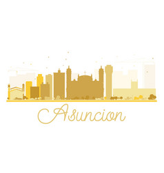 Asuncion city skyline golden silhouette vector