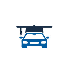 Automotive education logo icon design vector