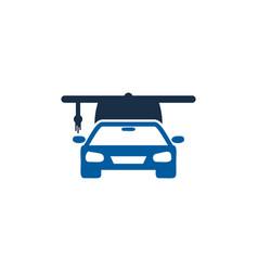automotive education logo icon design vector image