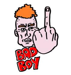Bad boy draw vector