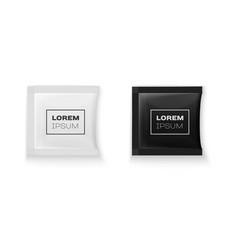 blank white plastic sachet for your design vector image