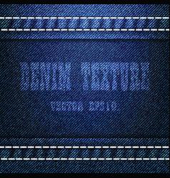 Blue denim texture background eps 10 vector