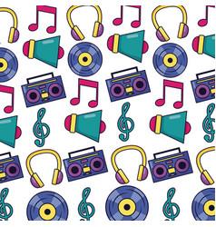 Boombox stereo megaphone vinyl music festival vector