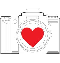 Camera Heart vector