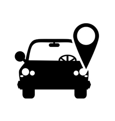Car and gps map pointer icon vector