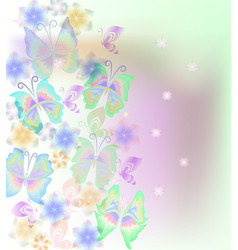 card design with butterflies vector image
