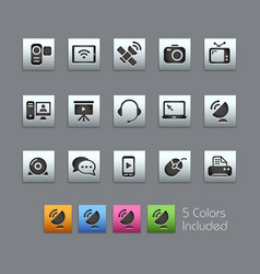 communication icons - satinbox series vector image