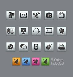 Communication icons - satinbox series vector