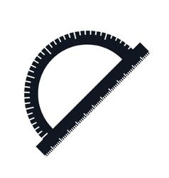 Compass ruler school vector image