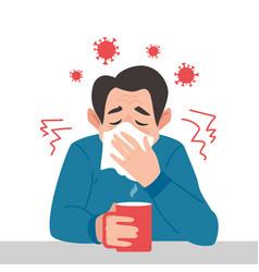 Coronavirus danger sick man character a vector