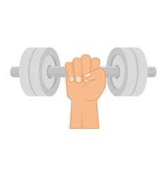Dumbbells weights equipment vector