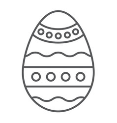 easter egg thin line icon decoration and easter vector image