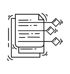 ecommerce icon management hand drawn icon set vector image
