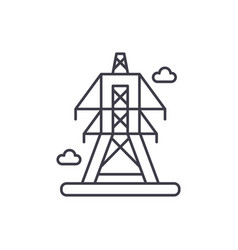 electric lines line icon concept electric lines vector image