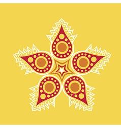 Floral ornament decoration vector