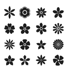 Flower bud set vector