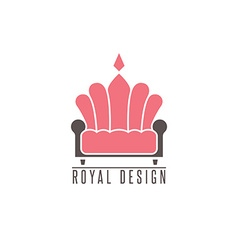 Furniture logo sofa interior design creative vector