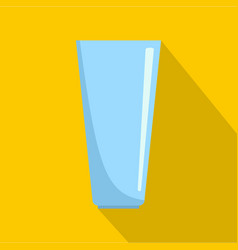 Glass icon flat style vector