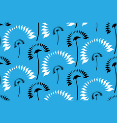 Graphic stylized white and black palms vector