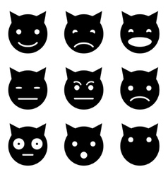 Kitten faces emotional vector