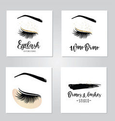 Lashes set vector
