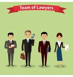 Lawyers Team People Group Flat Style vector image
