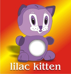 lilac kitten vector image vector image