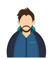 Man with winter jacket icon vector
