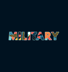 military concept word art vector image