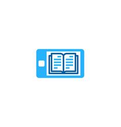Mobile book logo icon design vector