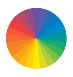 Multicolor spectral polychrome rainbow circle vector