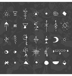 Mystical signs and symbols black vector